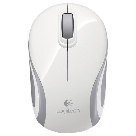 Купить Logitech Wireless Mini Mouse M187 White-Silver USB