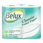 Туалетная бумага Belux Classic белая двухслойная