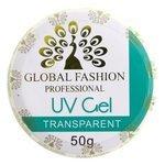 Гель Global Fashion Uv Gel Transparent однофазный, 50 мл
