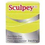 Полимерная глина Sculpey III 534 (неоновый желтый), 57г
