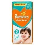 Pampers подгузники Sleep&Play 5 (11-16 кг) 58 шт.
