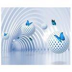 Фотообои Design Studio 3D Футуристичный тоннель с бабочками
