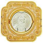Встраиваемый светильник De Fran SD-117 GWH, золото / белый