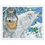 Molly Набор алмазной вышивки Северные волки (KM0109) 50х40 см