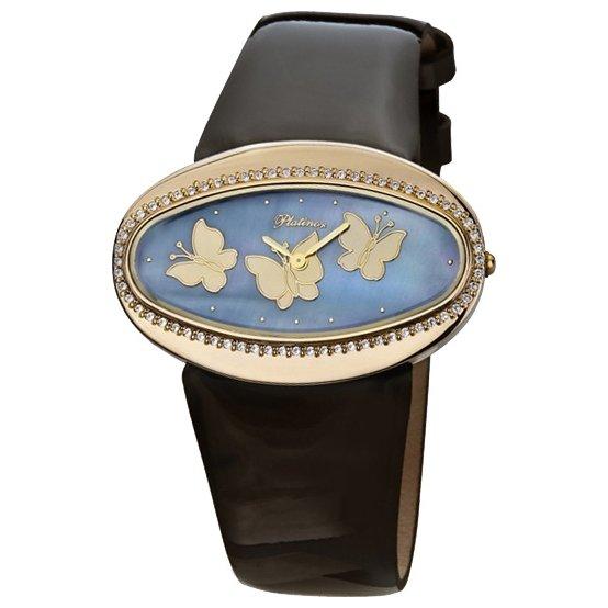 Золотые часы из золота пробы, кварцевые, арабская цифровка.
