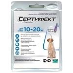 Merial Сертифект Спот-Он для собак 10–20 кг