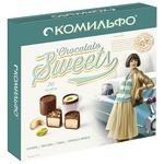 Набор конфет Комильфо Карамель / Фисташка / Кешью / Шоколад & Миндаль 232 г