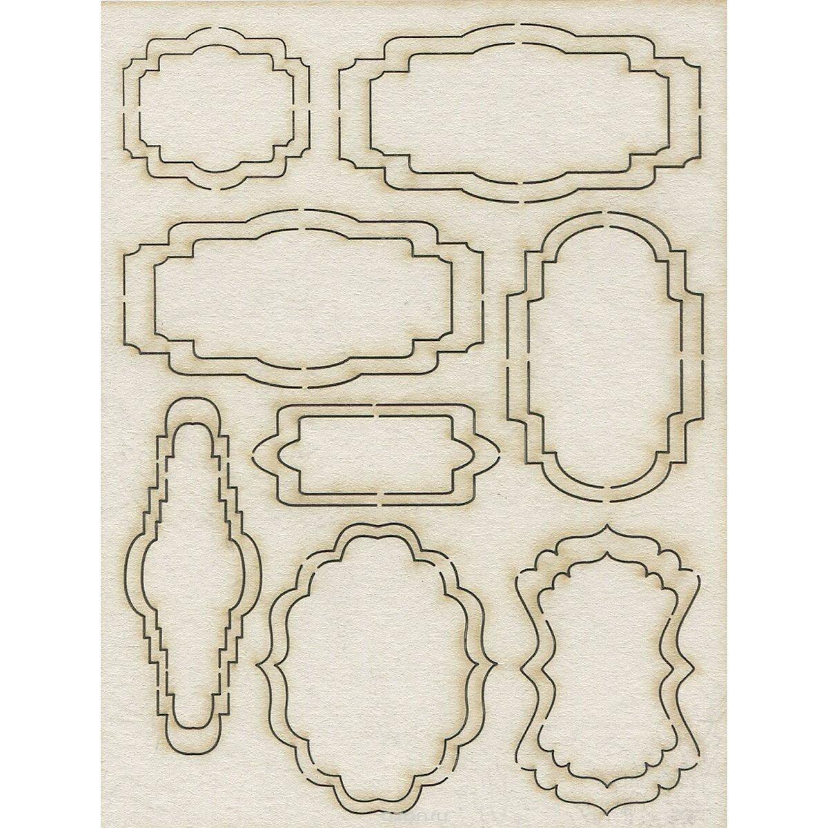 Фигурная рамка для открытки, джефф