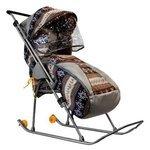 Санки-коляска Galaxy Снежинка Премиум с тентом