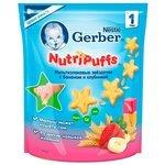 Снэк Gerber NutriPaffs Мультизлаковые звездочки с бананом и клубникой от 1 года