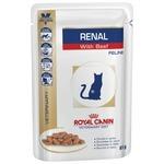 Корм для кошек Royal Canin (0.085 кг) 1 шт. Renal с говядиной (пауч)