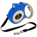 Поводок-рулетка для собак Пижон с фонариком, до 35 кг