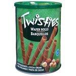 Вафельные трубочки Twisties с кремом из лесного ореха и какао 400 г