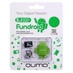 Qumo microSDHC class 10 16GB + Fundroid USB Card Reader