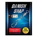 Вертлюг с застежкой Lucky John Pro Series Danish Snap With Rolling Swivel