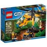 Классический конструктор LEGO City 60158 Грузовой вертолёт исследователей джунглей